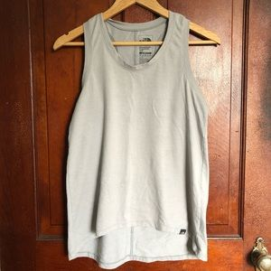 North Face classic fit women's grey tank top small